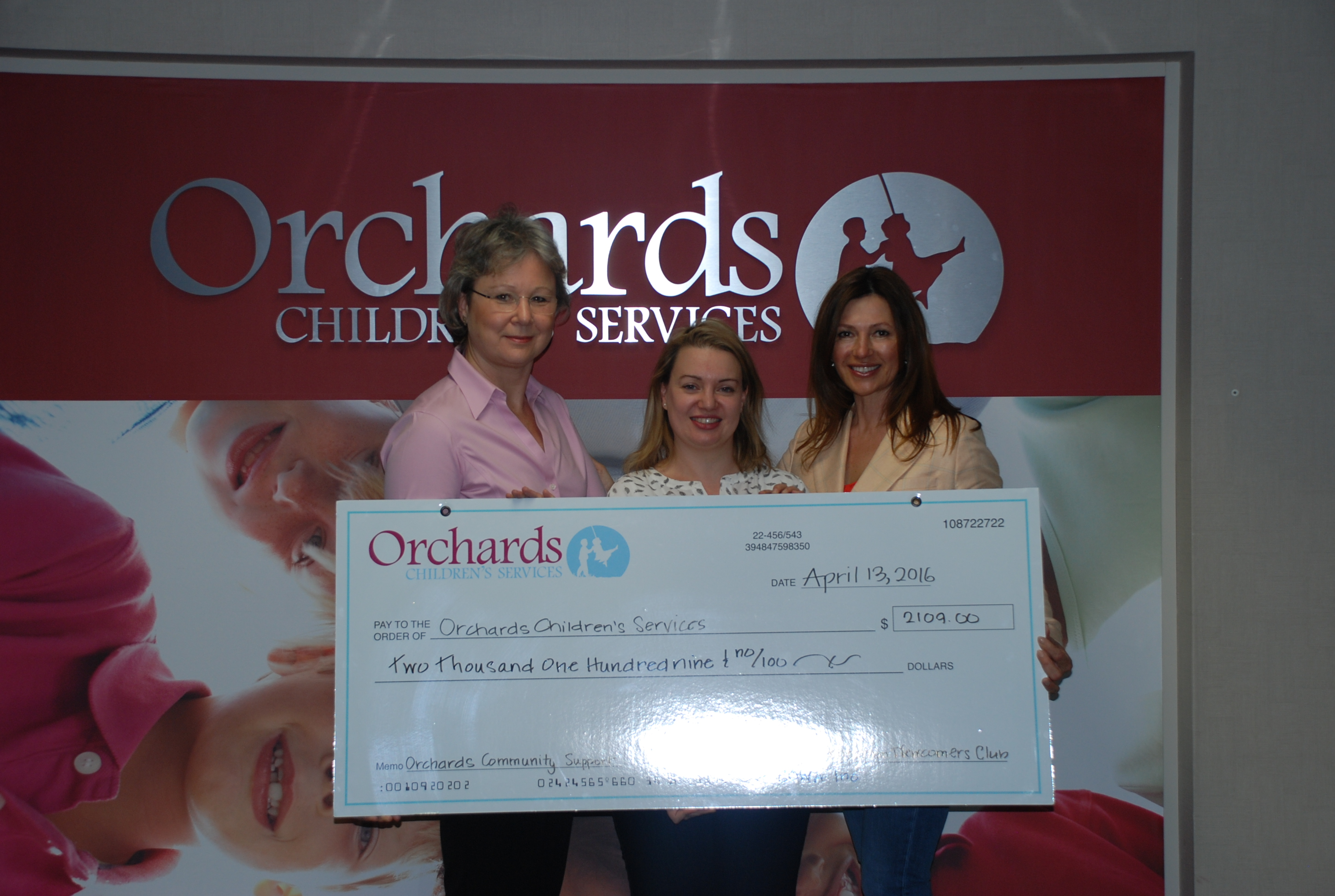Donation to Orchards Children